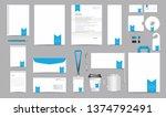 vector corporate identity... | Shutterstock .eps vector #1374792491