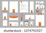 vector corporate identity... | Shutterstock .eps vector #1374792527