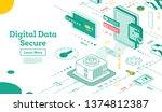 transferring data from database ...   Shutterstock . vector #1374812387