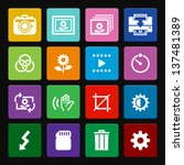 Photography icons and Camera Function Icons : Colorful Style - stock vector