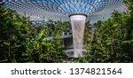singapore   apr 16  2019  jewel ...   Shutterstock . vector #1374821564