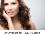 portrait of beautiful young... | Shutterstock . vector #137482895