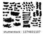 brush strokes. vector... | Shutterstock .eps vector #1374831107
