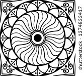 vector mandala for coloring page | Shutterstock .eps vector #1374833417
