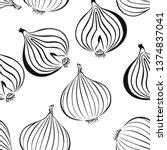 onion seamless pattern. black...