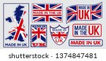 set of made in united kingdom... | Shutterstock .eps vector #1374847481