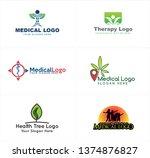 green blue line art badge logo... | Shutterstock .eps vector #1374876827