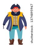 sea criminal pirate with eye... | Shutterstock .eps vector #1374895967