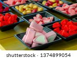 assorted candies with different ... | Shutterstock . vector #1374899054