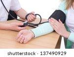 blood pressure measuring in... | Shutterstock . vector #137490929