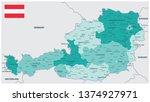 austria map teal colors  ... | Shutterstock .eps vector #1374927971