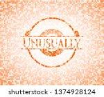 unusually orange mosaic emblem | Shutterstock .eps vector #1374928124