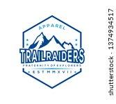 natural mountain vintage vector | Shutterstock .eps vector #1374934517