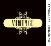 luxury antique modern art deco...   Shutterstock .eps vector #1374958211