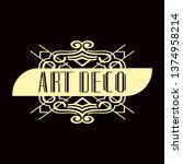 luxury antique modern art deco...   Shutterstock .eps vector #1374958214