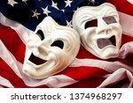 politics is just a theater ... | Shutterstock . vector #1374968297