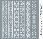 vector set of line borders with ...   Shutterstock .eps vector #1374979601