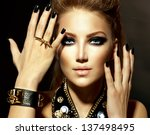Fashion Rocker Style Model Gir...