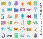 Good device icons set. Cartoon style of 36 good device vector icons for web for any design