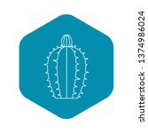 blooming cactus icon. outline...   Shutterstock .eps vector #1374986024