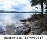lac du cerf laurentides region...   Shutterstock . vector #1374990317