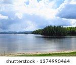 lac du cerf laurentides region...   Shutterstock . vector #1374990464