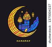 ramadan arabic muslim islamic... | Shutterstock .eps vector #1375004237