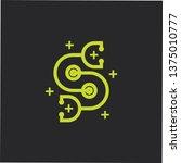 letter sc stethoscope medical... | Shutterstock .eps vector #1375010777