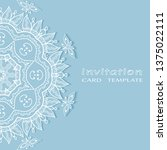 invitation or card template...   Shutterstock .eps vector #1375022111