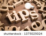 Tips wood word in scattered...