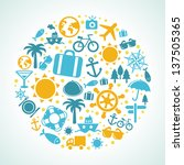 travel concept   summer and... | Shutterstock . vector #137505365