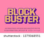vintage bold font effect with... | Shutterstock .eps vector #1375068551