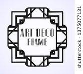 modern art deco frame. vintage...   Shutterstock .eps vector #1375077131