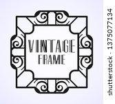 modern art deco frame. vintage...   Shutterstock .eps vector #1375077134