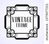 modern art deco vintage border...   Shutterstock .eps vector #1375077221