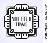 modern art deco vintage border...   Shutterstock .eps vector #1375077224