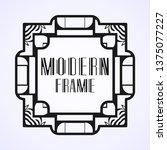 modern art deco vintage border...   Shutterstock .eps vector #1375077227