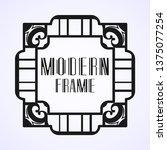 modern art deco vintage border...   Shutterstock .eps vector #1375077254