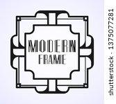 modern art deco vintage border...   Shutterstock .eps vector #1375077281