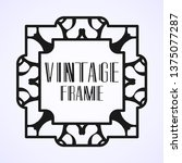 modern art deco vintage border...   Shutterstock .eps vector #1375077287