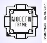 vintage ornamental modern art...   Shutterstock .eps vector #1375077314