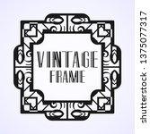 vintage ornamental modern art...   Shutterstock .eps vector #1375077317