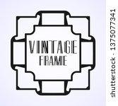 vintage ornamental modern art...   Shutterstock .eps vector #1375077341