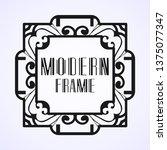vintage ornamental modern art...   Shutterstock .eps vector #1375077347
