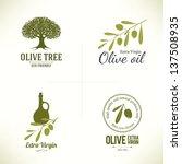 set of olive labels | Shutterstock .eps vector #137508935