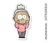 distressed sticker of a cartoon ... | Shutterstock . vector #1375104314