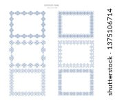 decorative vintage borders and...   Shutterstock .eps vector #1375106714