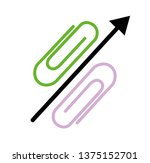 the percent sign is laid out... | Shutterstock .eps vector #1375152701