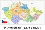 czech republic administrative... | Shutterstock .eps vector #1375158287