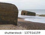 abandoned bunker on seashore | Shutterstock . vector #137516159
